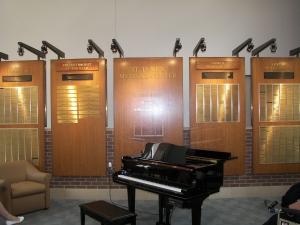 Traditonal Wood & Brass Donor Wall