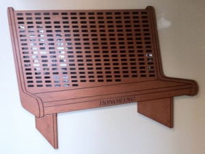 Large Church Pew Plaque
